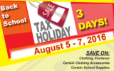 Sales Tax Holiday (Aug 5-7)