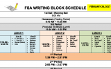 FSA Testing Block Schedule & Calendar