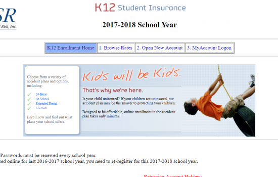 2017-2018 Student Accident Insurance Program