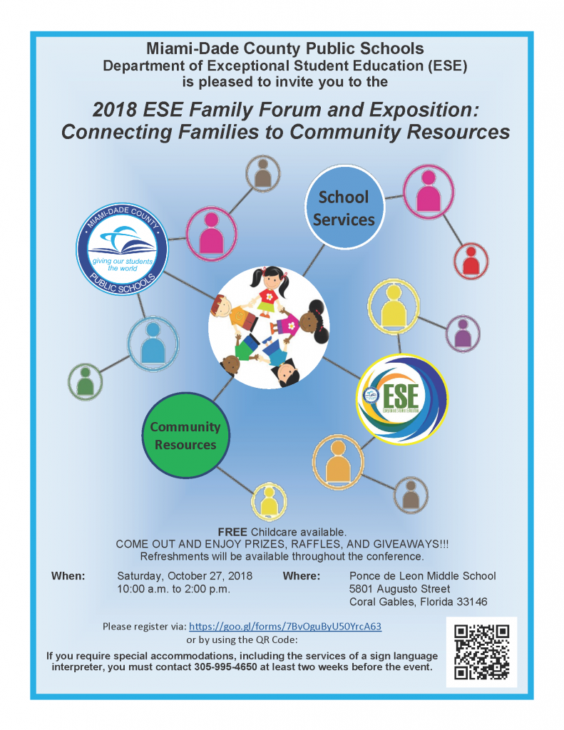 2018 ESE Family Forum and Exposition: @ Ponce de Leon Middle School